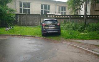 Что может грозить за парковку на газоне?