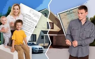 Выделение доли собственности для сына в квартире при разводе