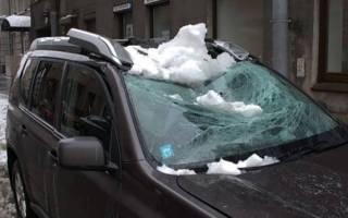 Возмещение ущерба от падения снега с крыши частного дома