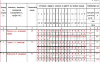 Коды видов оплаты труда в табеле
